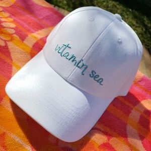3d364ac99f8f5c Accessory Depot Accessories - Vitamin Sea White Baseball Cap Beach Cute Sun  Hat